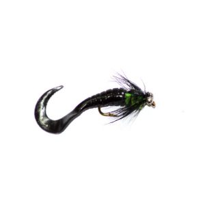 Black and Green Waggle Tail Lure