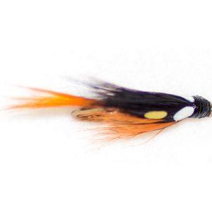 Black Orange Simulated Jungle Cock