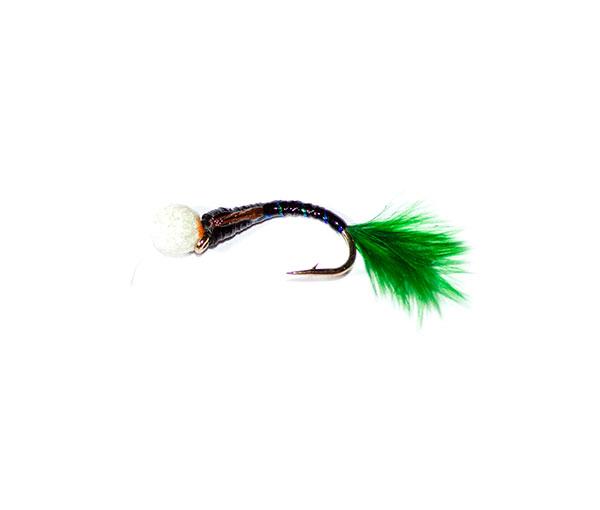 Black Sparkle Epoxy Suspender Buzzer Green Tail