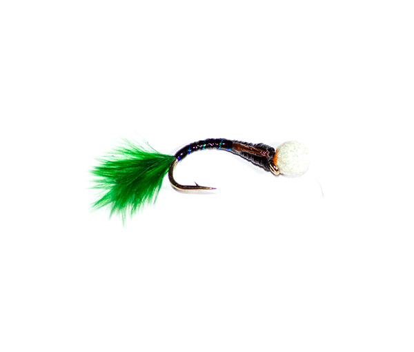Black Sparkle Epoxy Suspender Buzzer Green Tail