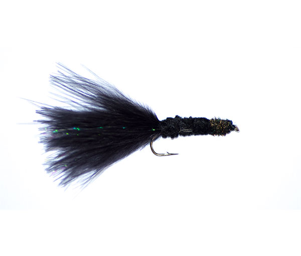 Black tadpole lure from fish fishing flies suitable for for Types of fly fishing flies