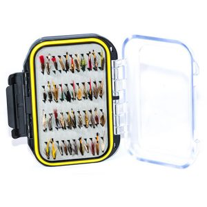 Waterproof Acrylic Fly Box ( holds 154 standard flies) With 88 Wet Flies
