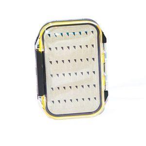 Waterproof Acrylic Fly Box ( holds 96 standard flies) With 24 Wet Flies