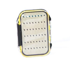 Waterproof Acrylic Fly Box ( holds 96 standard flies) FREE x 8 Goldheads