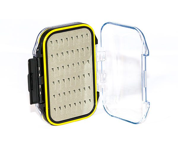 Waterproof Acrylic Fly Box ( holds 96 standard flies) FREE x 8 Epoxy Buzzers