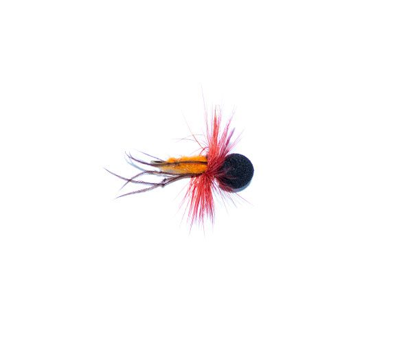 Booby Hopper Orange Red Hackle
