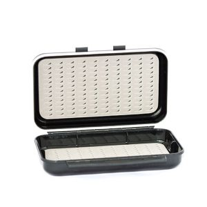Waterproof ABS Plastic Moulded Fly Box ( holds 240 standard flies) FREE x 8 Nymphs