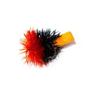 Black Red and Orange Foam Blob