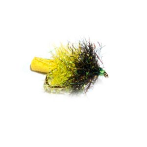 Black and Lime Sparkle Yellow Tail Foam Blob
