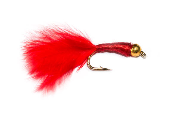 Goldhead Red Bloodworm Marabou