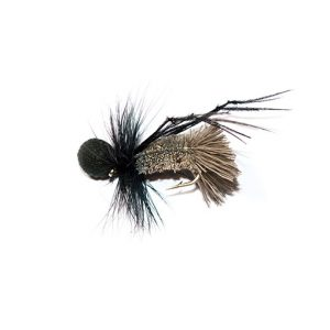 Natural Goddard Caddis Black Booby Head Hopper