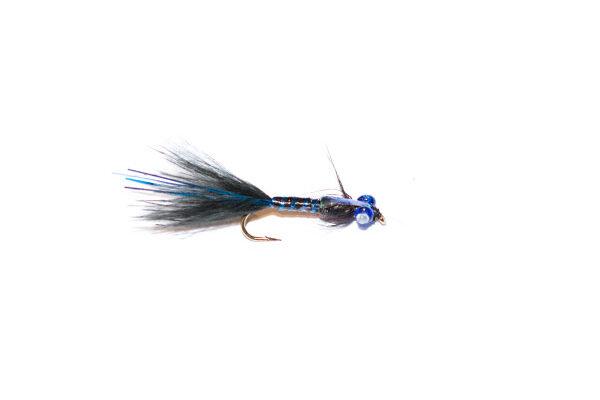 Black and Blue Epoxy Flash Damsel Nymph