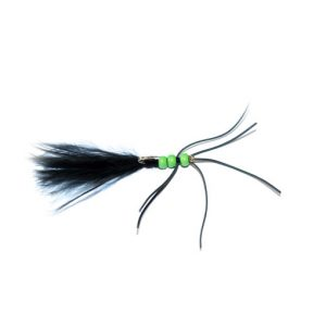 Black Critter Green Bead Blood Worm