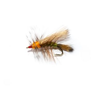 Olive and Orange Stimulator Dry Fly