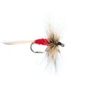Badger & red dry fly