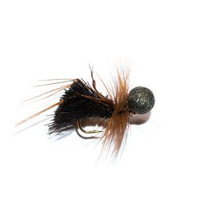Black Deer Hair Sedge Hopper Brown Hackle Booby Head