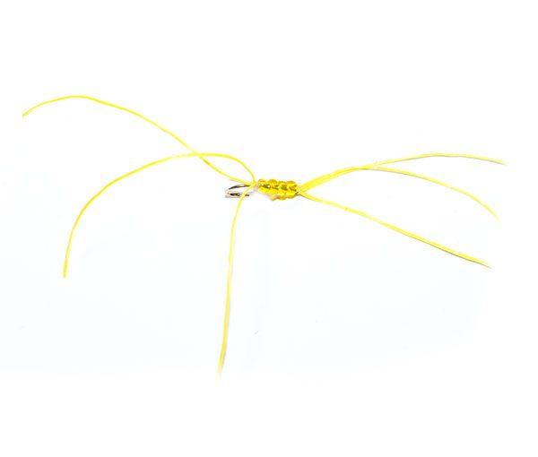 Yellow Bead Flexi Floss Critter Bloodworm