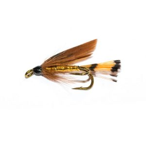 Cinnamon & Gold Double Wet Fly