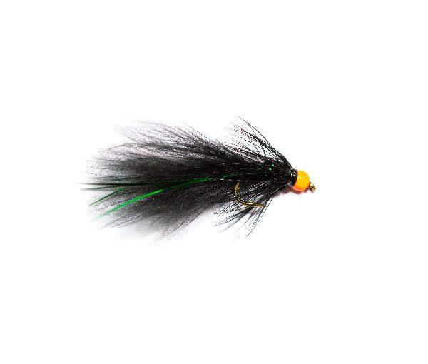 Hi Vis Orange Hot Head Black and Green Flash Damsel